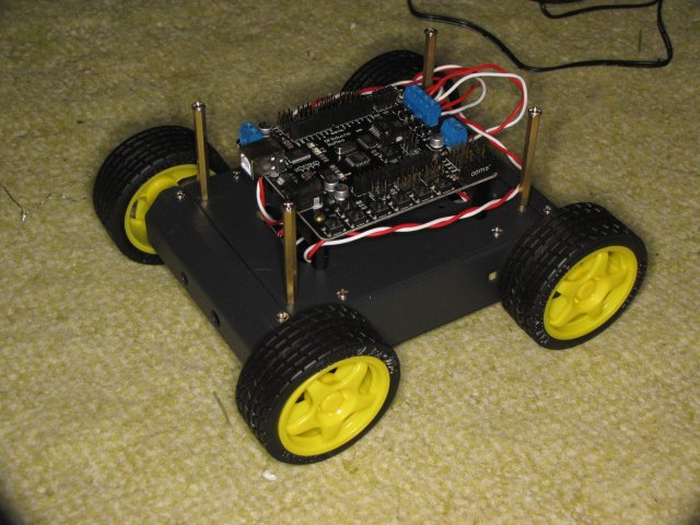 DFRobotics 4 wheel AWD kit with Romeo/Arduino board